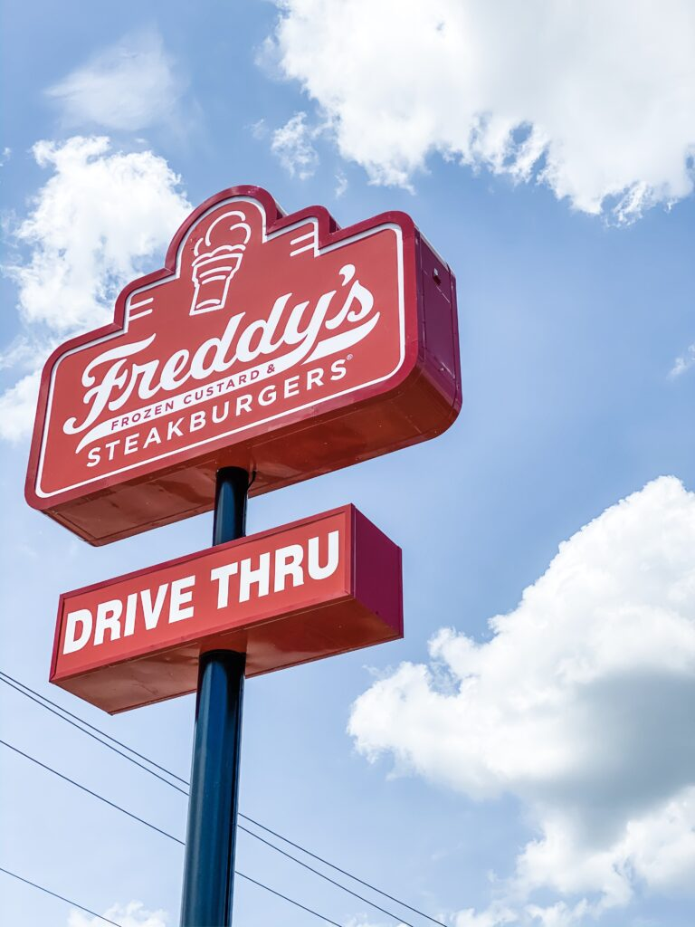 Freddy's in Madison This Freddy's location is the first in North Alabama and is located in the Madison Corners shopping center on Balch Road near HWY 72.