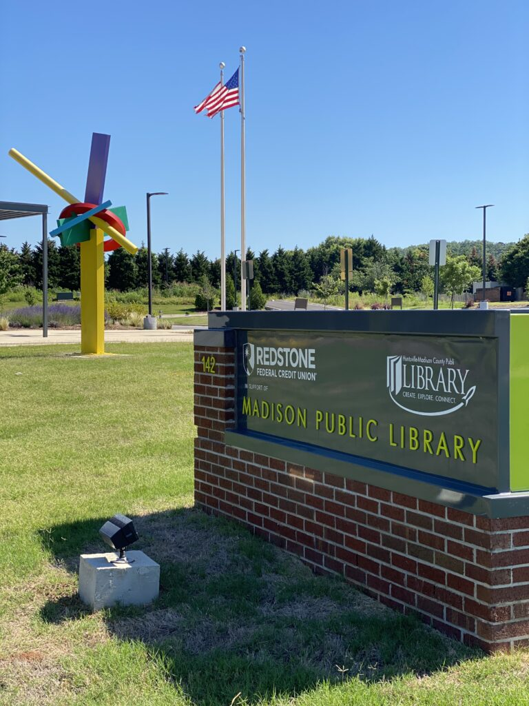Madison, Alabama Public Library:In May, the library implemented curbside drop-off and pick-up. Through their safe, quick, and efficient system, dropping off and picking up library resources has never been easier.