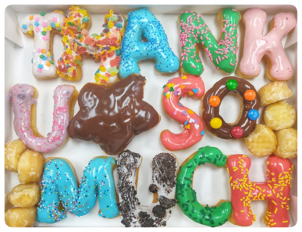 """Special Messaging doughnuts from WOW Donuts: Have a special occasion coming up and want to celebrate with a sweet treat? New """"Special Messaging""""..."""