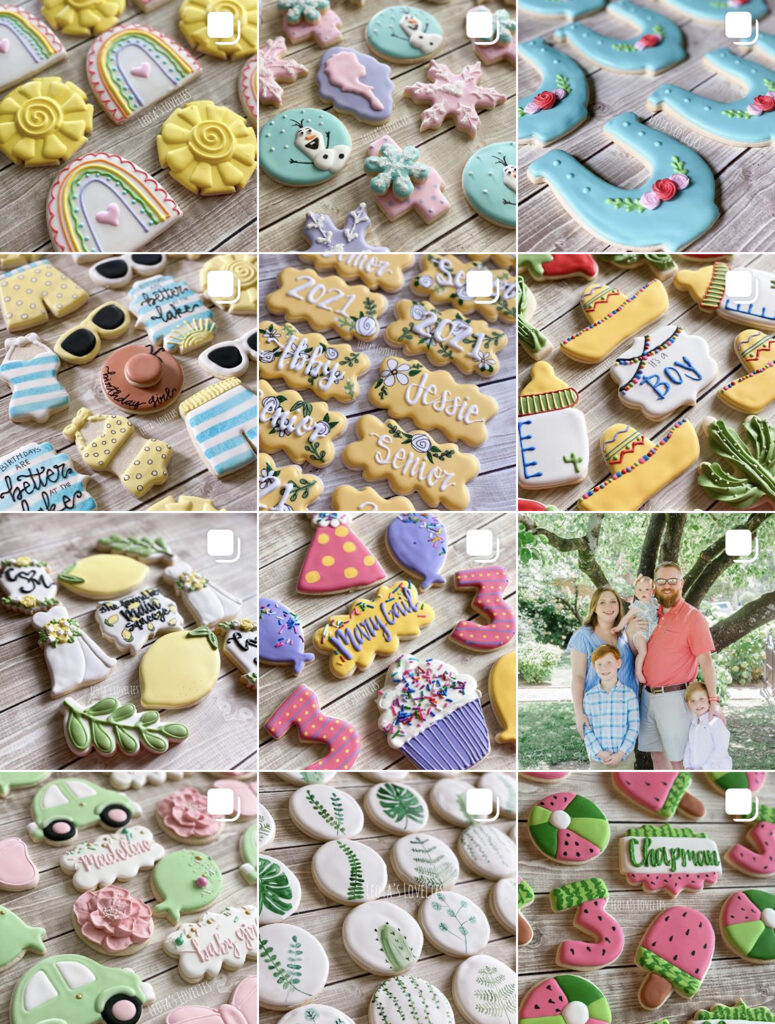 From baby showers to birthday parties to gift baskets and more, custom decorated sugar cookies have rapidly become a highly sought-after sweet treat. Most are made with royal icing and are nothing short of impressive works of art. These cookie bakers are able to take their clients' visions and turn them into edible, attractive party favors and gifts.