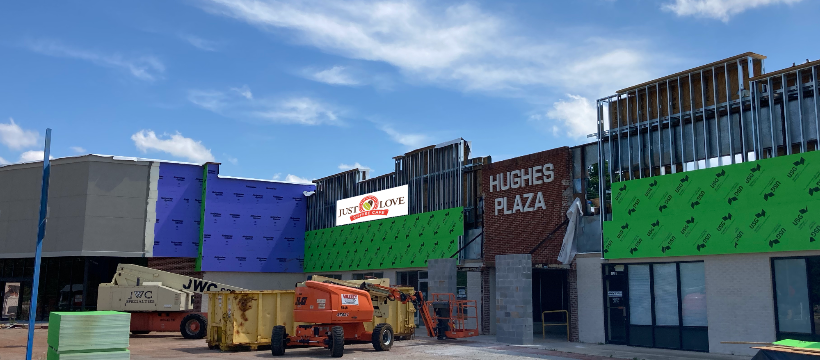 Just Love Coffee Cafe in Madison, Alabama is under construction in Hughes Plaza on Hughes Road across the street from City Hall. Located directly left of the breezeway and right of the former Hartlex Antique Mall, Just Love will boast 30% more space than the Huntsville location.