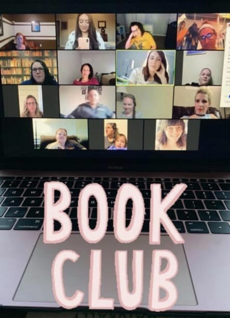 "Bookworm Babes is a monthly book club that typically meets in-person or online (though right now is only meeting online.) It's geared for women, and though Rodriguez says that many of the women are in their 20s and 30s, ""absolutely every lady is invited!"""