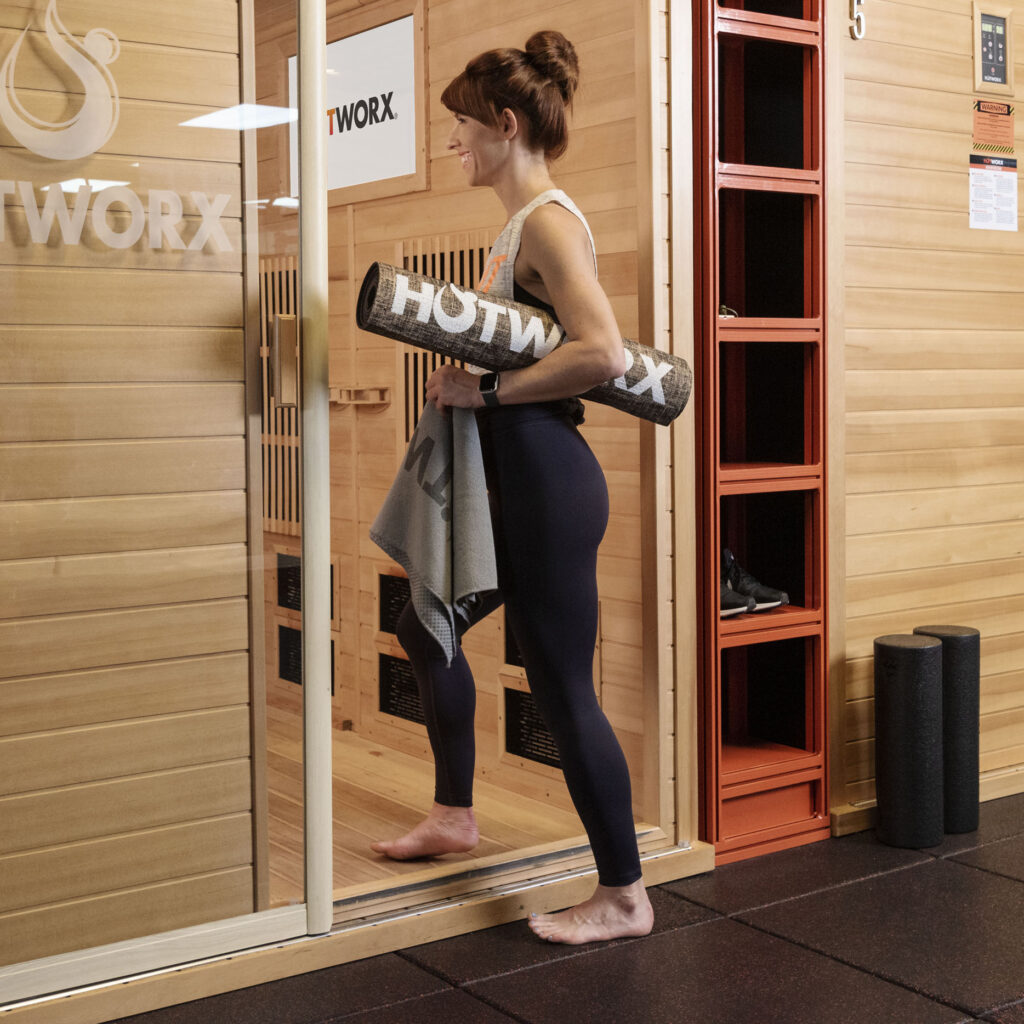 HOTWORX in Madison, Alabama | This fitness studio will feature eight small saunas that offer virtual instruction. Normally each sauna allows three participants at a time, but when the studio opens only one or two people will be allowed in each sauna at a time.