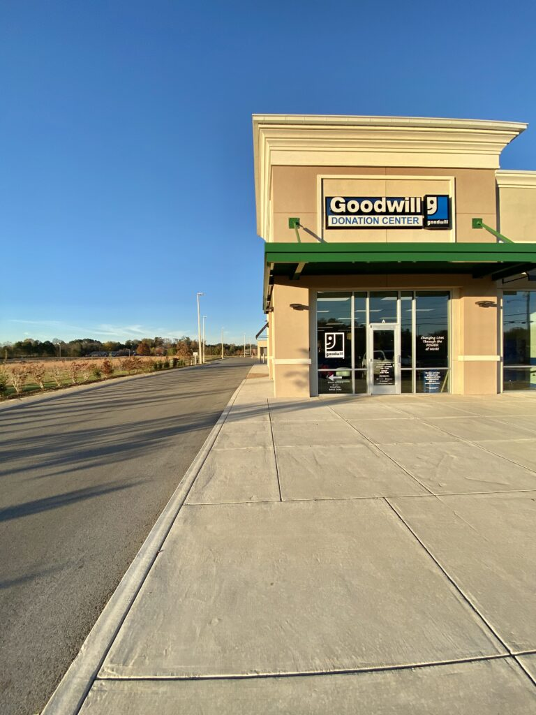 Goodwill Donation Center in Madison, Alabama | Community members are invited to clean out their homes, offices, etc., and bring gently used items to the donation center during regular business hours. This location features a drive-up spot on the west side of the building (as pictured below) where a kind associate guarantees to meet you as quickly as possible to help unload (if desired). He or she will ask if you'd like a receipt, and then you'll pull forward with an emptier vehicle and get on with your day. Easy!