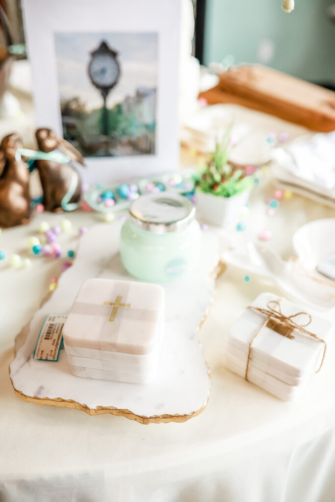 All About Interiors by Consign's Gift Shop in Madison, Alabama | This store carries a handful of elevates gifts including candles, coasters, oven mitts, umbrellas, wreaths, and so much more.
